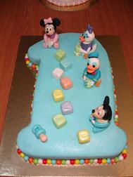 Bolo de 1.º Aniversário do Mickey