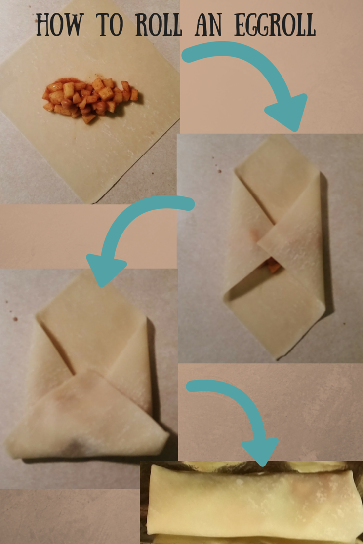 How to Roll an Egg Roll. Apple Pie Egg Roll Recipe