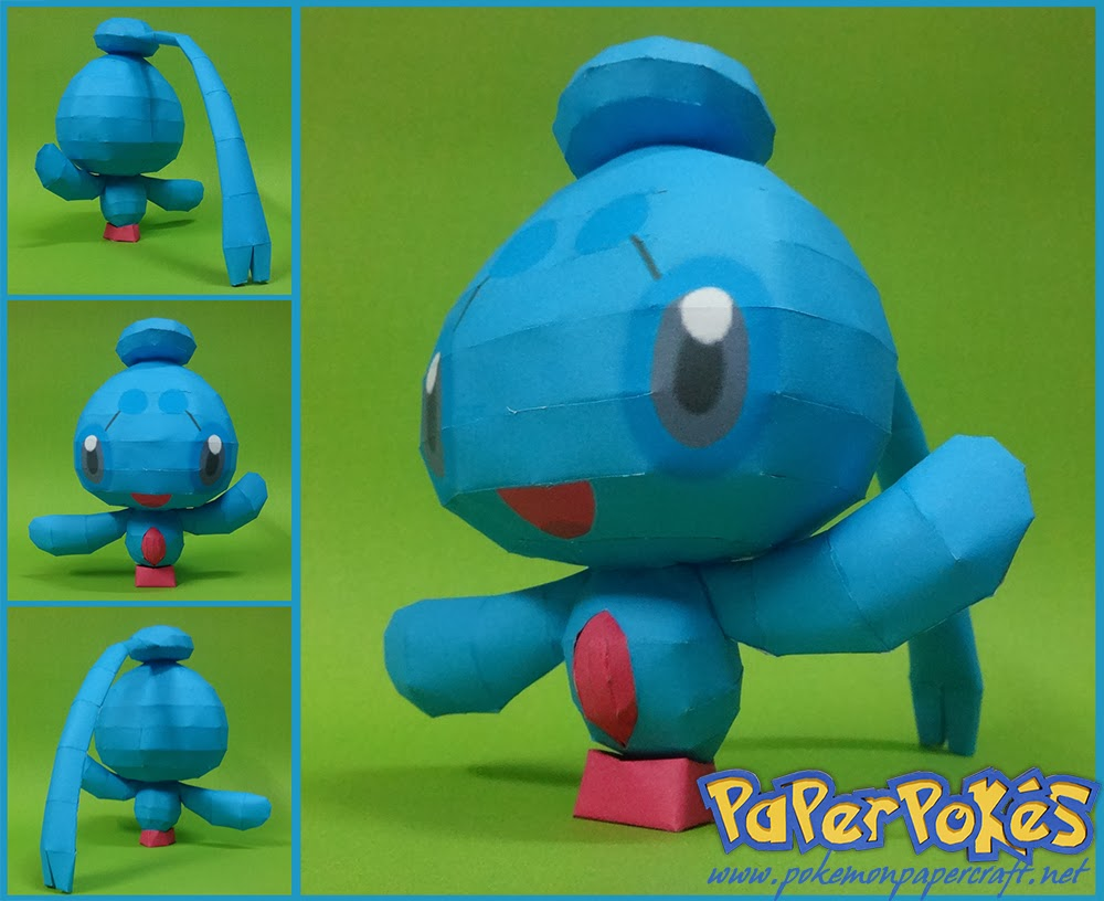 Pokemon Phione Papercraft