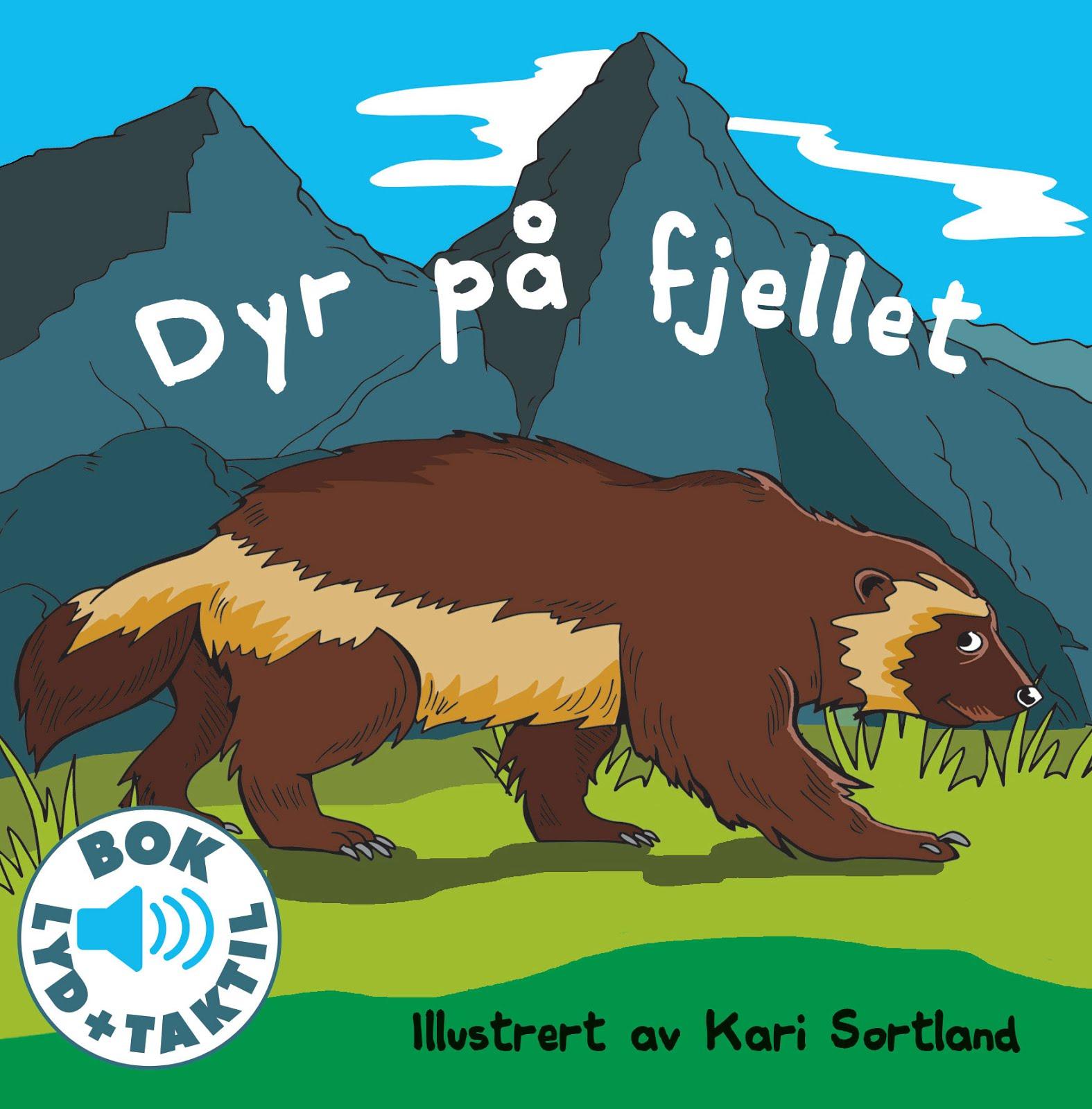 Dyr på fjellet, Kari Sortland barnebok illustrasjon