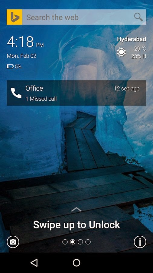 Microsoft Picturesque Lock Screen for Android
