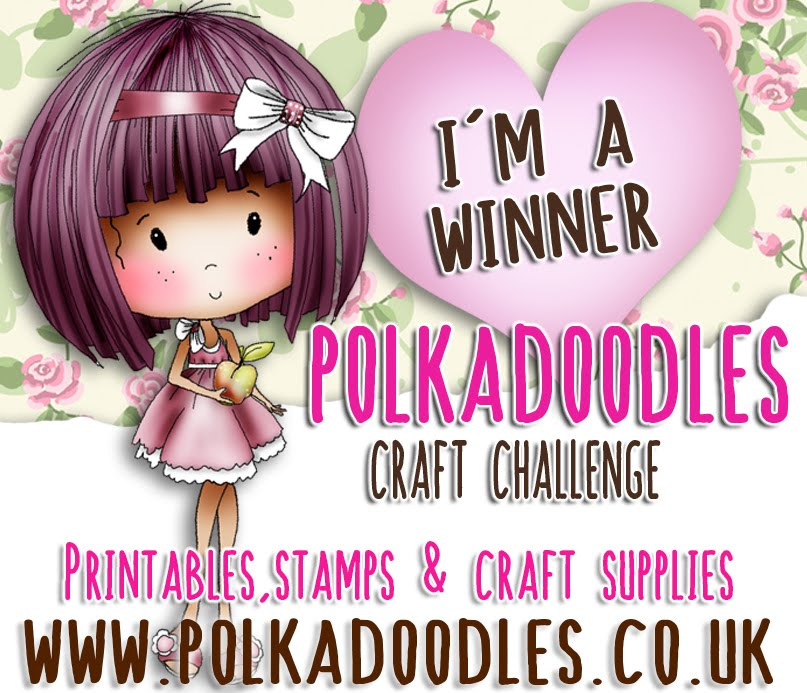 Winner at Polkadoodles Craft Challenge