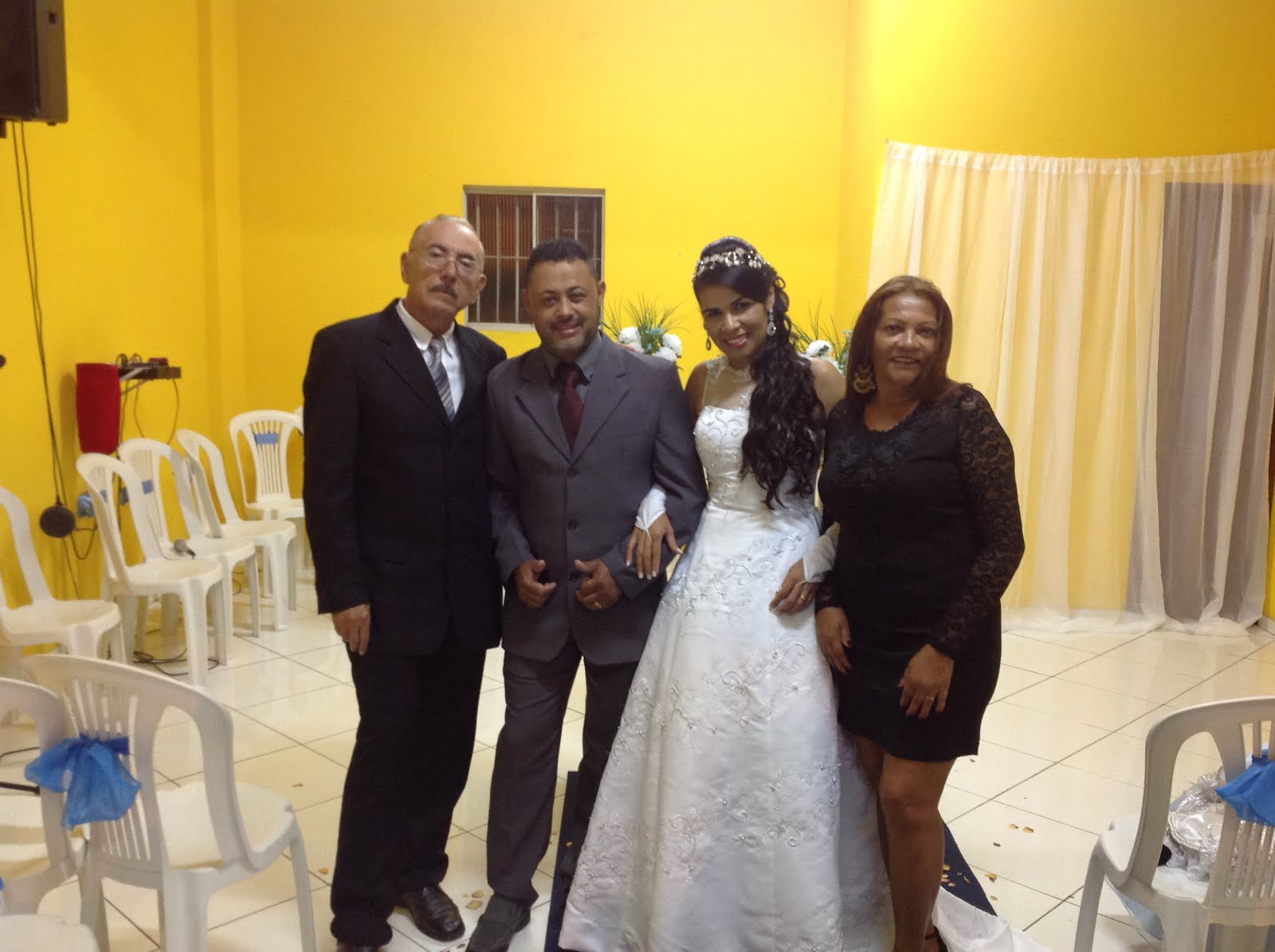 Alexandre e Adriana em Cerimonia de Casamento