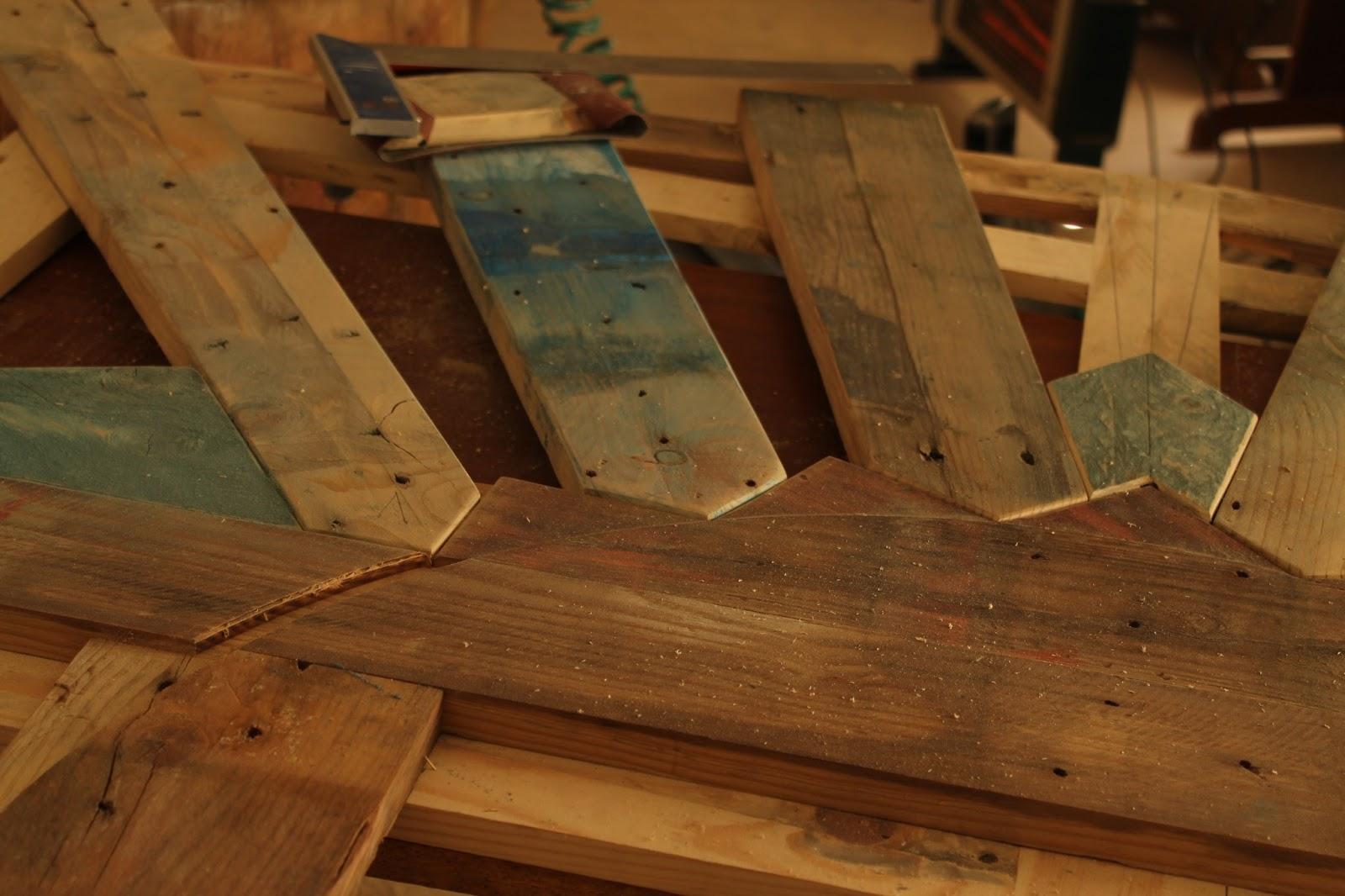 Rullo studio otra vida para las maderas cabecero de cama - Cabeceros de cama con palets ...