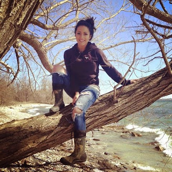 Getting Closer to Lake Weather...Brittnee Poses on Point Peninsula While Out Fishing