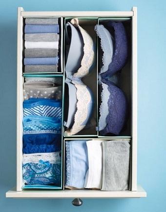 Tener ordenada la ropa interior