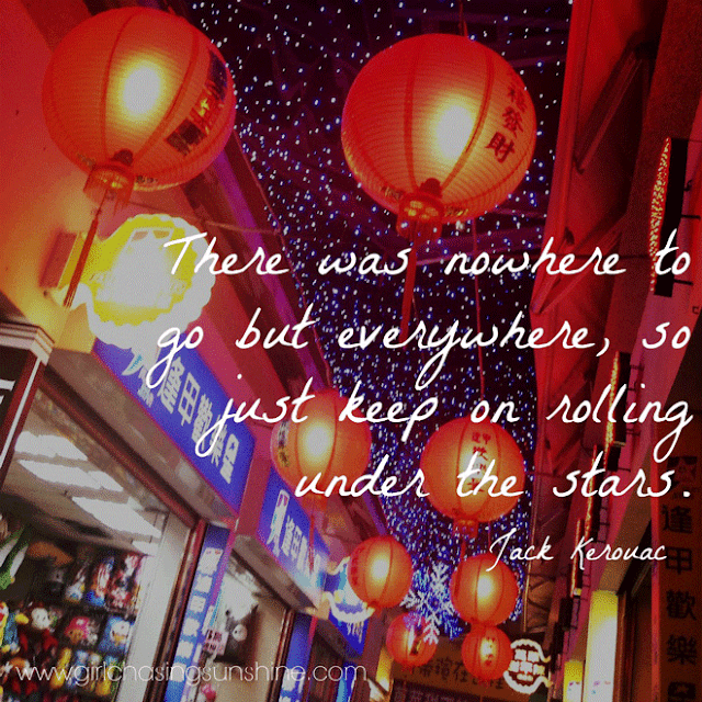 Travel Picture Quote There was nowhere to go but everywhere, so just keep on rolling under the stars by Jack Kerouac