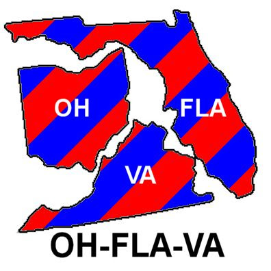 Ohio, Florida and Virginia