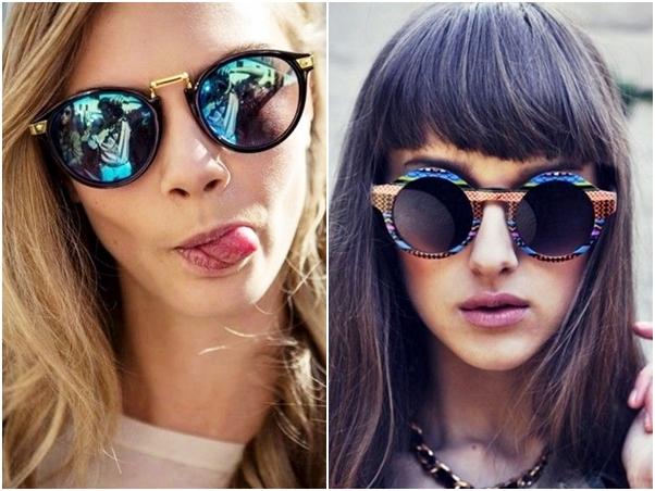 Óculos Diferentes Tendência Espelhado Étnico Tribal
