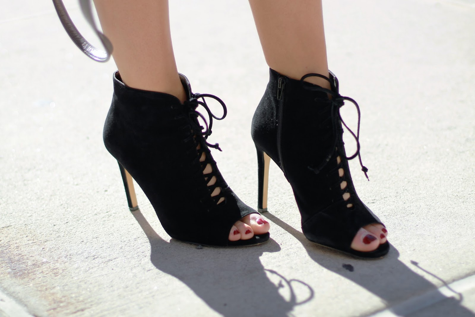 lace up heel booties, lace up 424 fifth