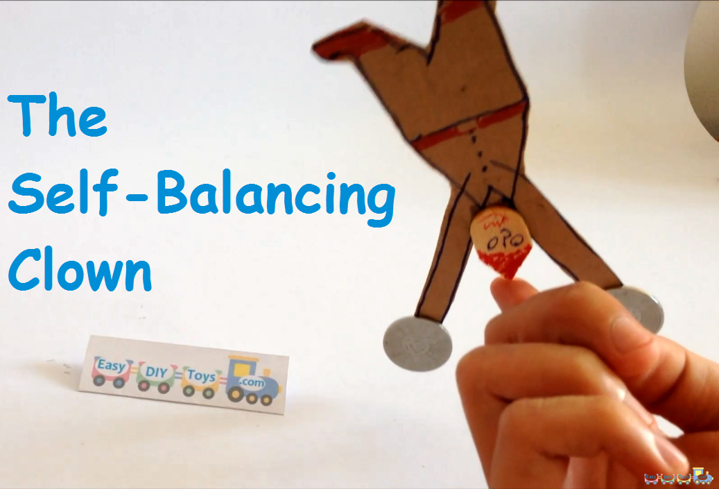 Balancing Science Toy Cardboard Funny Clown