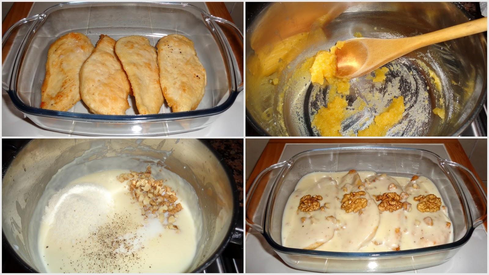 Pollo panko relleno de queso de cabra Receta