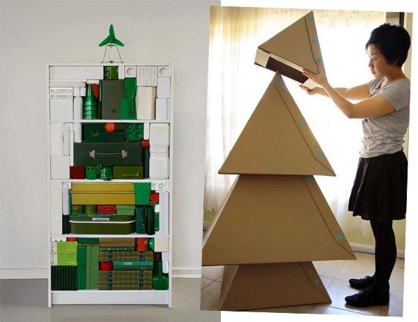 decorar arvore natal simples:Blog da Bruna Jaqueline: Ideias para árvores de Natal criativas