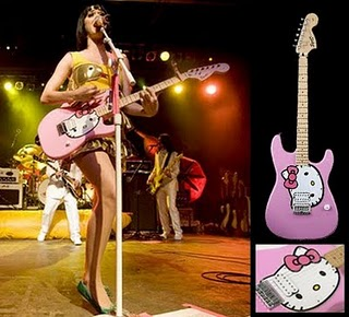 Katy Perry with Hello Kitty guitar