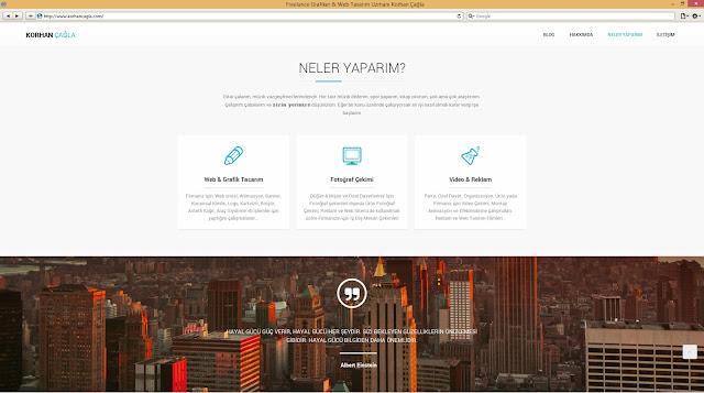 Korhan Çağla için yapılmış Kişisel Web Sayfası Alt Sayfa
