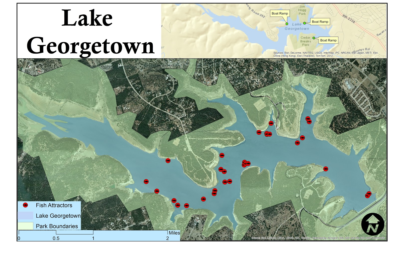 gis su lake georgetown