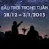 Bầu trời trong tuần từ 28/12 tới 3/1/2015