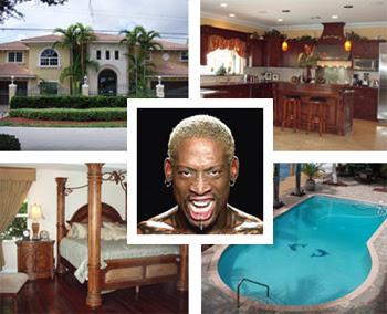 NBA star Dennis Rodman's House