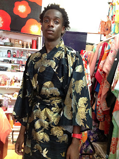 Colorful Japanese Cotton Kimono from Kimono House New York