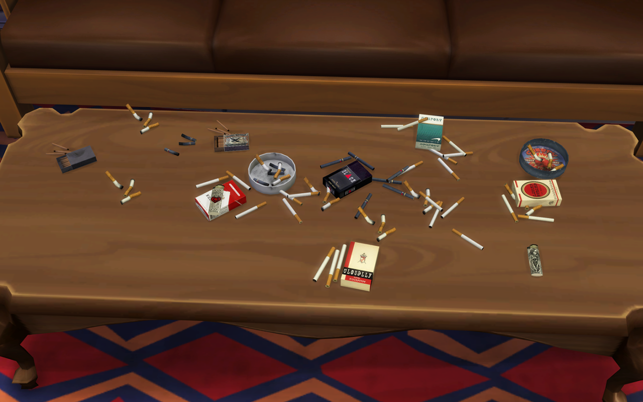 My sims 4 blog smoking clutter by simsplex for 4 all decor