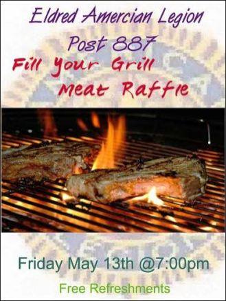 5-13 Meat Raffle At Eldred Legion