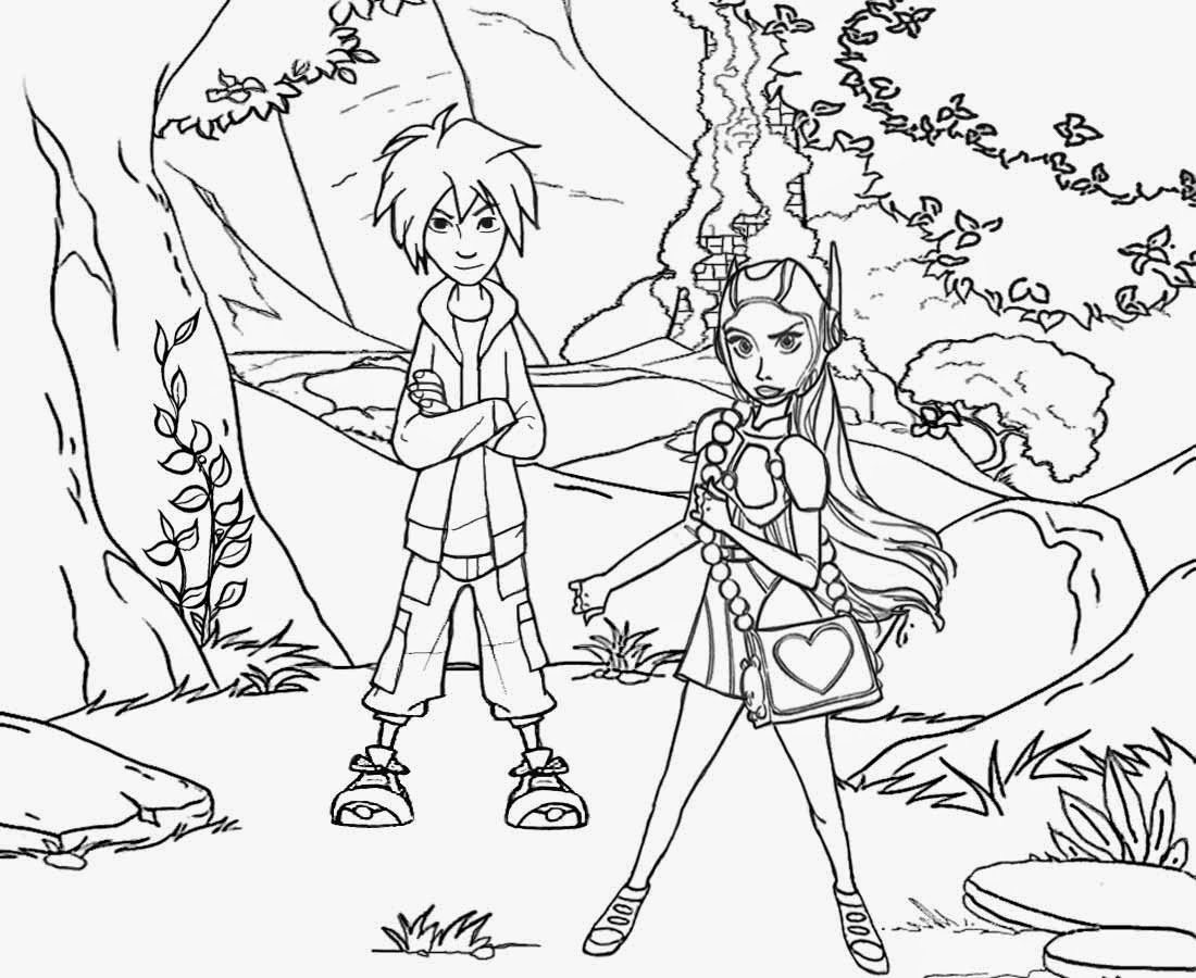 Girls Printable Magic Woodland Fantasy Landscape Drawing For Kids Big Hero 6 Coloring Pages To Print