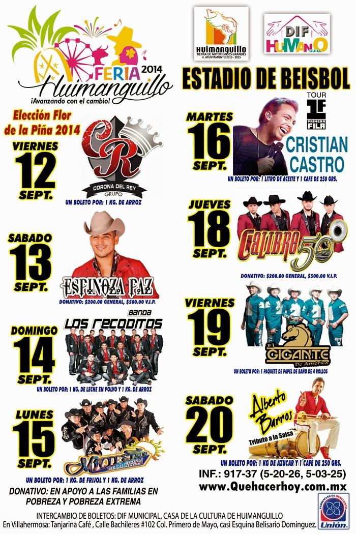 Programa Feria Huimanguillo 2014