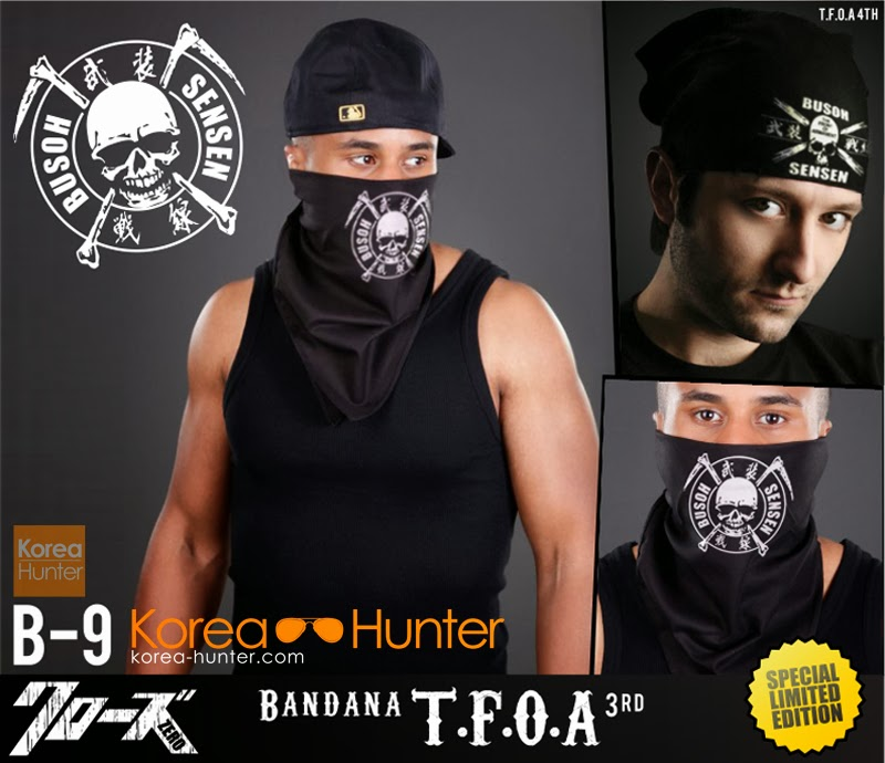 KOREA-HUNTER.com jual murah Bandana T.F.O.A 2in1 '3rd & 4th Generation' | kaos crows zero tfoa | kemeja national geographic | tas denim korean style blazer