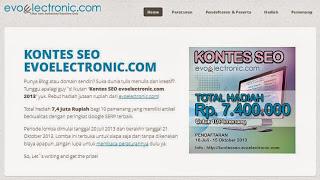 kontes seo belanja elektronik di evoelectronic.com