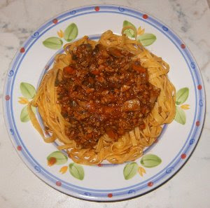Tagliatelle with Ragu' of Mushrooms