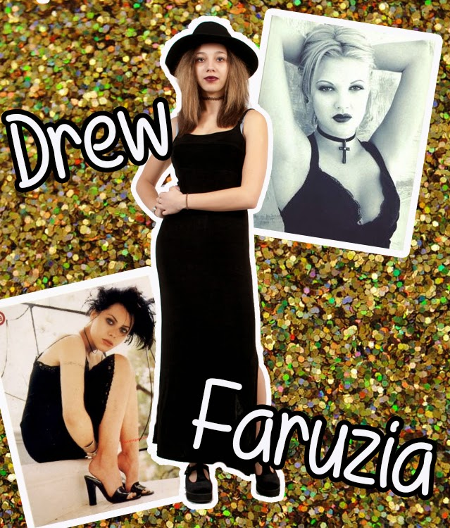 fauzia balk 90's 90's babe grunge drew barrymore the vintage scene