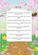 Spring Poem Illustration .