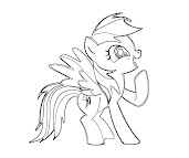 #3 Rainbow Dash Coloring Page