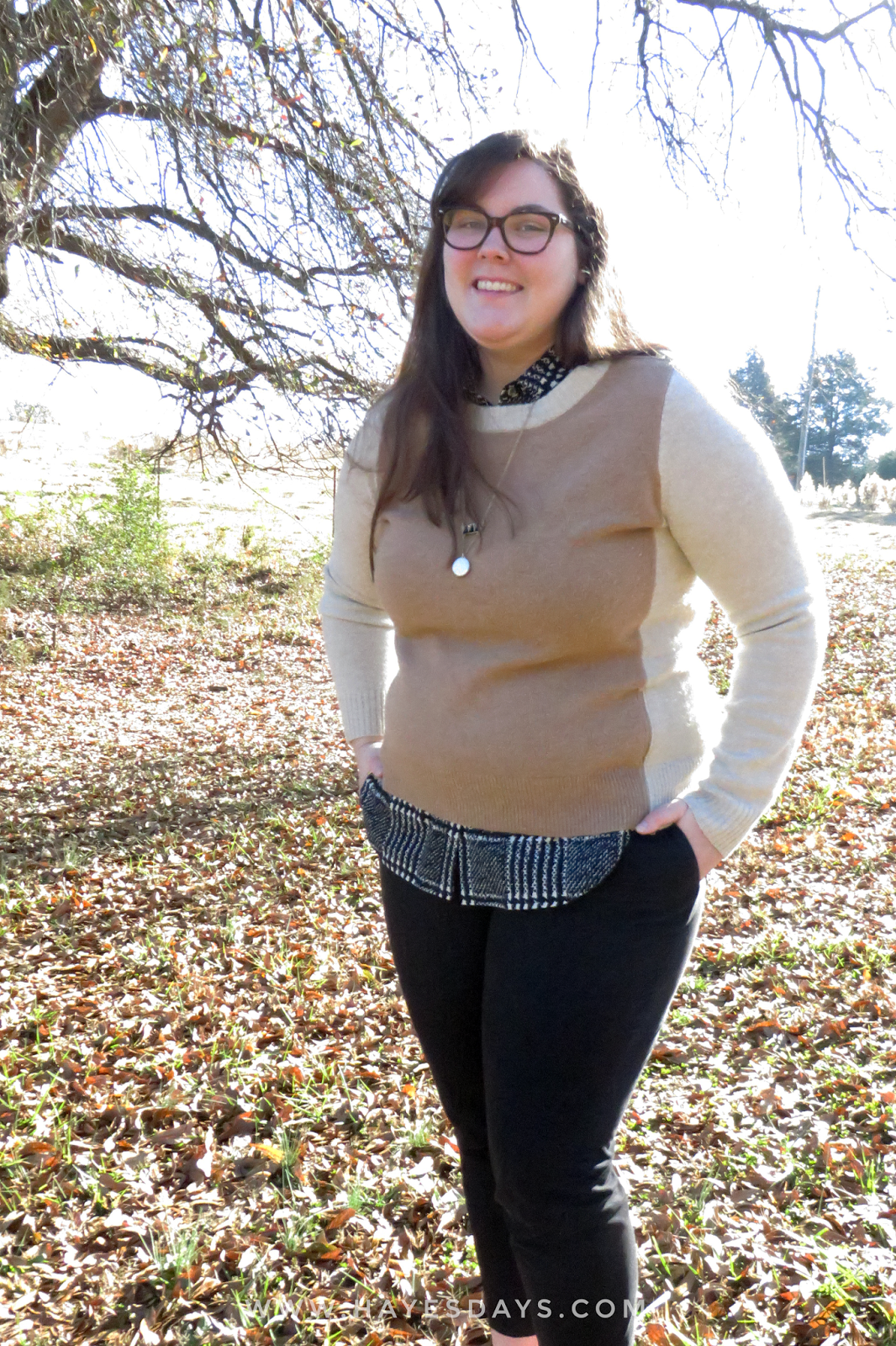 remixing a sleeveless blouse for winter :: www.hayesdays.com