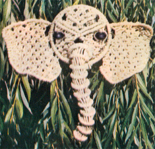 Как сплести слона в макраме? Схема плетения слона при помощи макраме.