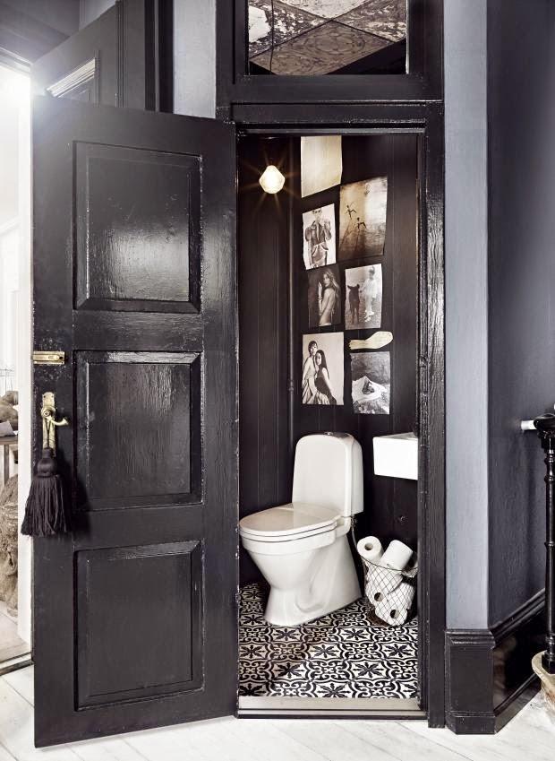 Deco toilettes noir et blanc