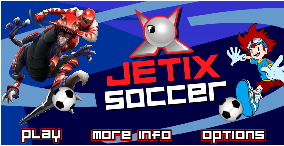 Jetix Soccer is a 3d online shockwave game with great graphics like in pro evolution soccer where you can choose your player and your team to play soccer.