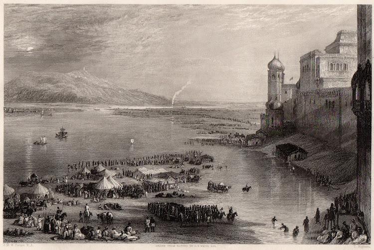 Pilgrims at hte Sacred Fair of Hurdwar