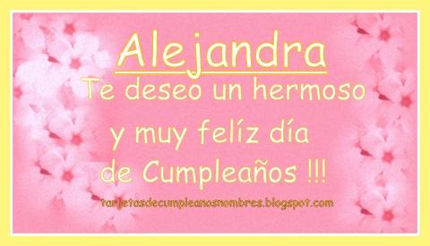 Alejandra feliz cumpleaños - nombres
