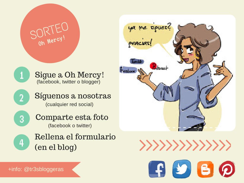 Sorteo Oh Mercy - Con la realidad en los talones - tr3s bloggeras
