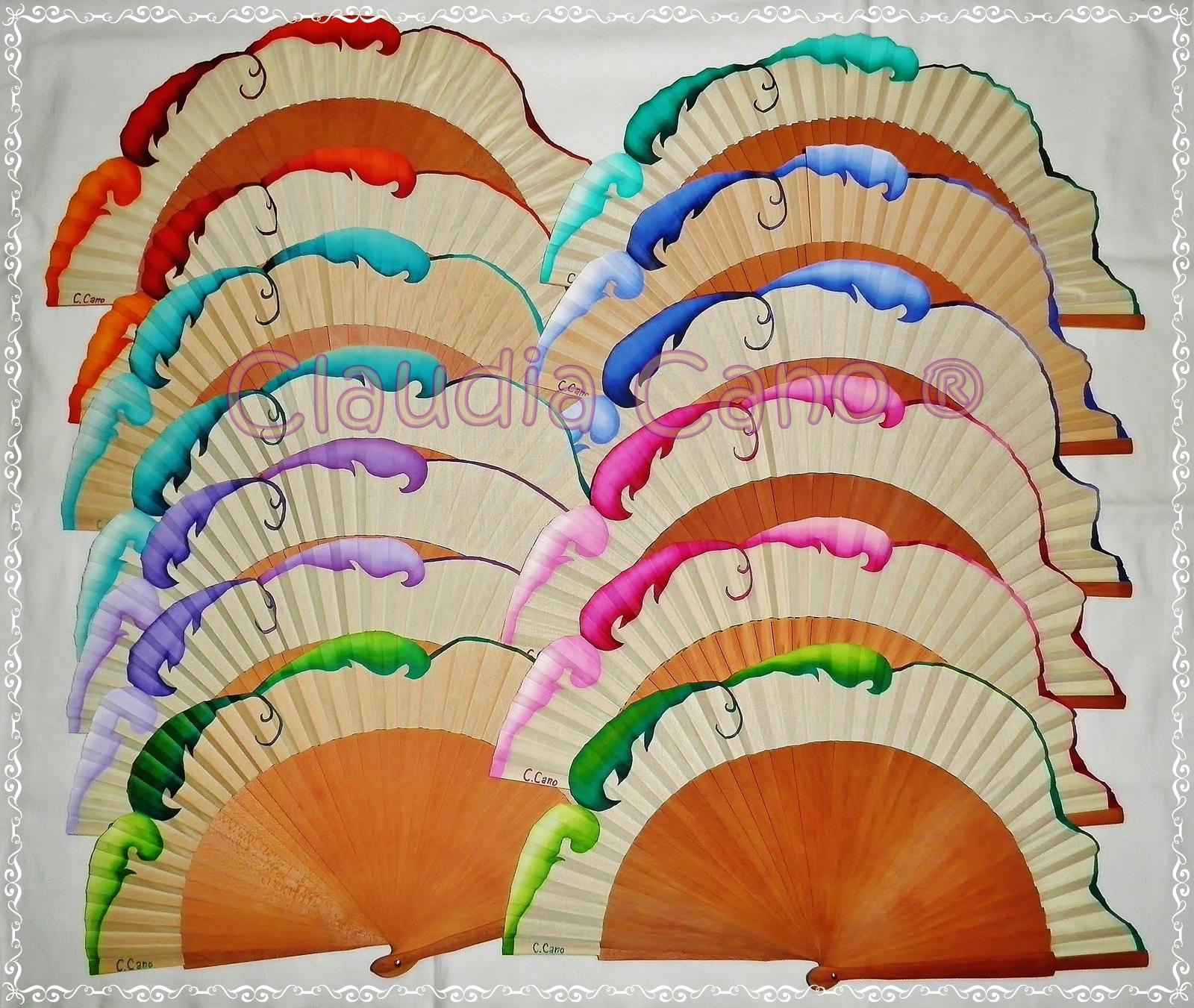 Abanicos para bodas y eventos claudia cano abanicos para - Abanicos pintados a mano originales ...