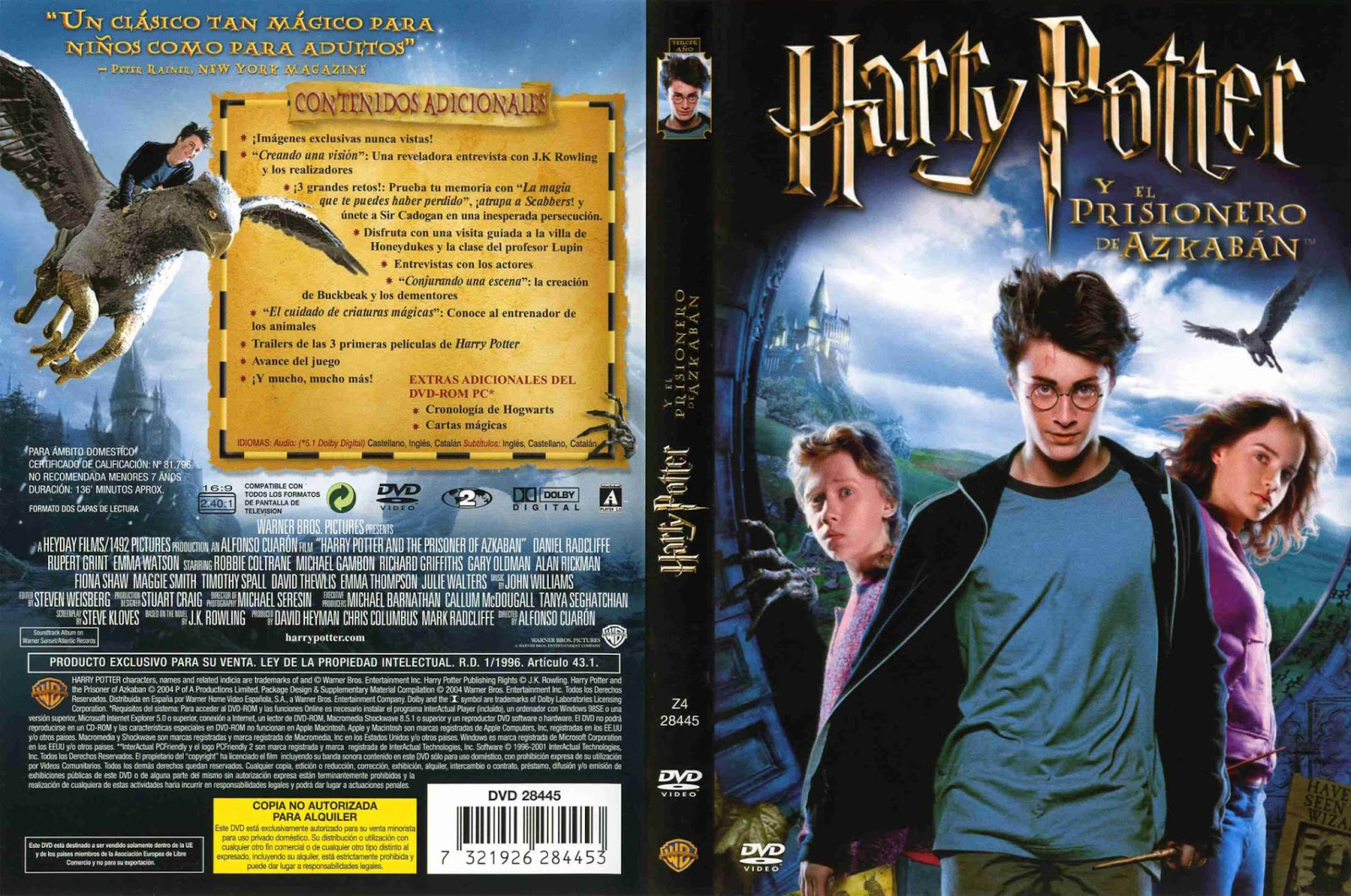 Harry Potter y el Prisionero de Azkaban DVD