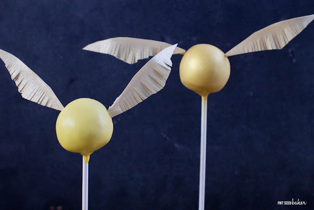 How To Make Golden Snitch Cake Pops