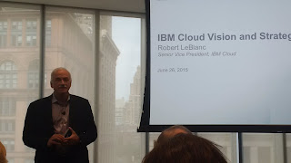 Leblanc opens the IBM Cloud Analyst Summit in NYC