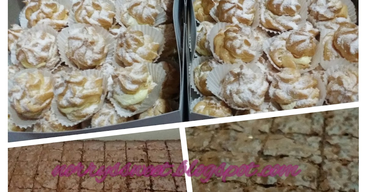 Norry's sweet : Cream puff & Chocolate Fudgy Brownies