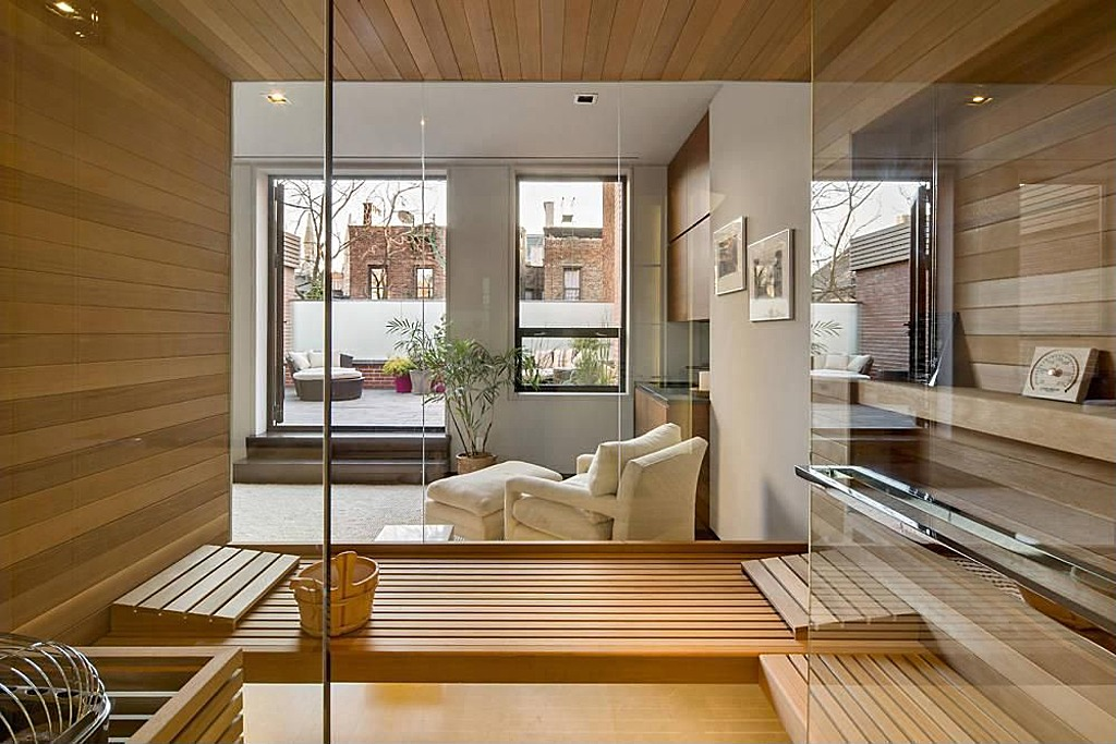 Modern townhouse with loft design new york city for Modern townhouse design