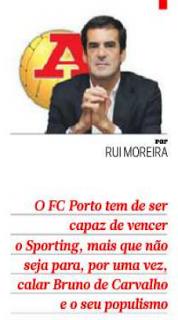 Bruno Carvalho critica duramente Rui Moreira