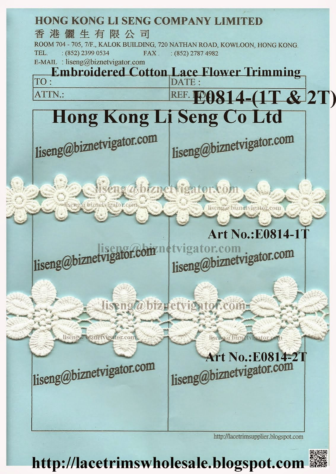 Embroidered Cotton Flower Motif Trimming Manufacturer Wholesale Supplier - Hong Kong Li Seng Co Ltd