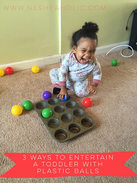 toddler activities with plastic balls