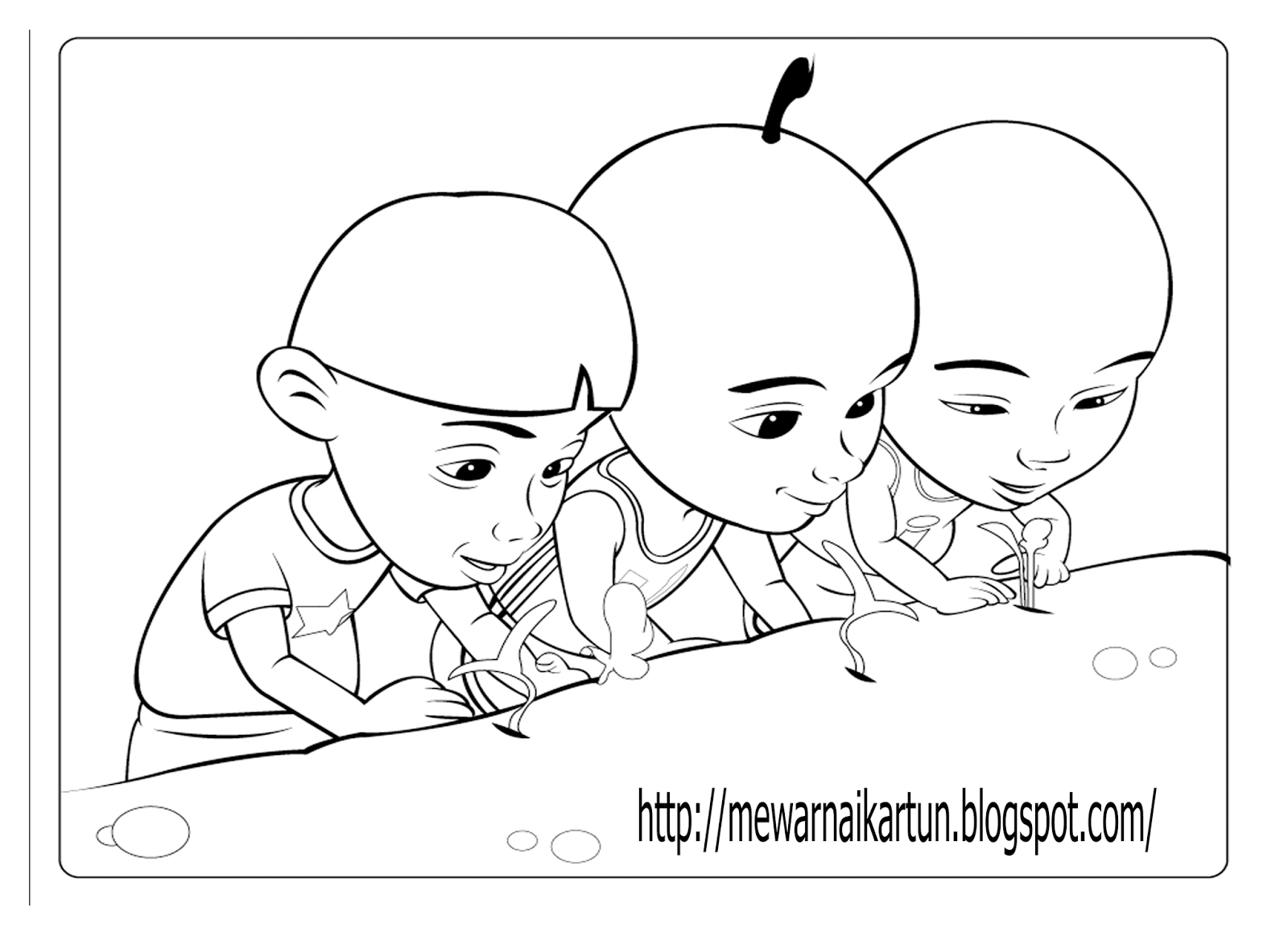 Get Free High Quality HD Wallpapers Coloring Pages Upin Dan Ipin